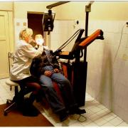 A patient in the dentist's chair