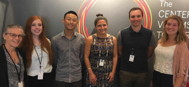 Photo taken in the Summer of 2018. From left to right: Nancy Pearson, Shelby Ankrom, Andy Pham, Emily Hutchinson, Brent Jensen, Catherine Johnson.
