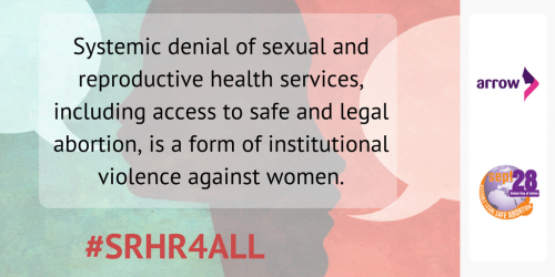 Systemic denial of sexual and reproductive health services, including access to safe and legal abortion, is a form of institutional violence against women.