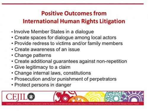 Positive outcomes of cases