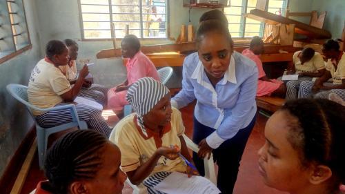 Prison paralegals at a legal aid clinic at Shimo La Tewa Women Prison in Mombasa