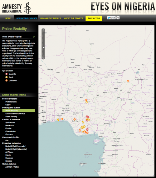 Eyes on Nigeria, Policing and Justice map